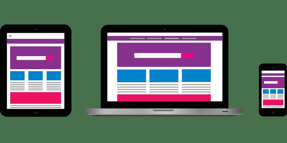 E-Expansion virtuele weergave van een goed responsive website design